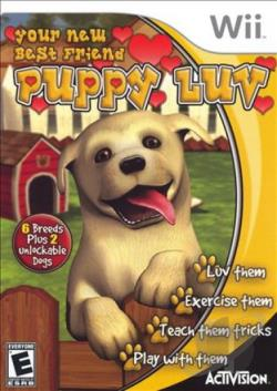 Puppy Luv WII Cover Art