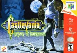 Castlevania: Legacy of Darkness N64 Cover Art