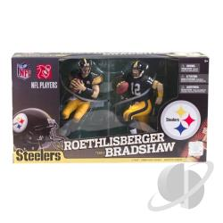 MCF-NFL 2PK Series 23 Ben Roethlisberger 4/Terry Bradshaw 2 Steelers XB360 Cover Art