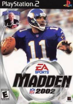 Madden NFL 2002 PS2 Cover Art