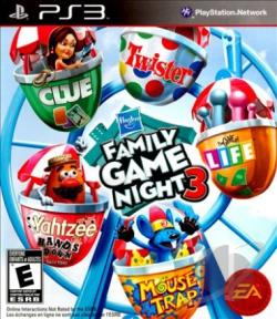 Hasbro Family Game Night 3 PS3 Cover Art