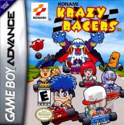 Konami Krazy Racers GBA Cover Art