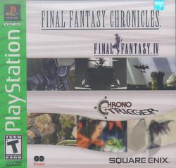 Final Fantasy Chronicles: Final Fantasy IV & Chrono Trigger PS Cover Art