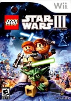 LEGO Star Wars III: The Clone Wars WII Cover Art
