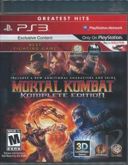 Mortal Kombat Komplete Edition PS3 Cover Art