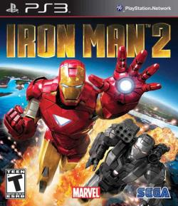 Iron Man 2 PS3 Cover Art