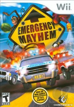 Emergency Mayhem WII Cover Art