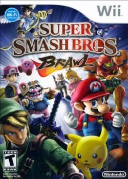 Super Smash Bros. Brawl WII Cover Art