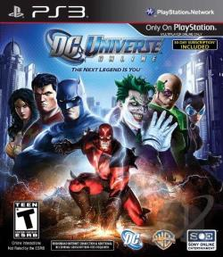 DC Universe Online PS3 Cover Art