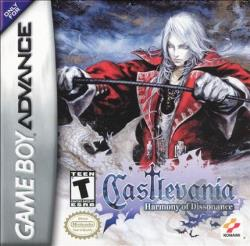 Castlevania: Harmony Of Dissonance GBA Cover Art