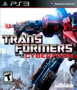 Transformers: War for Cybertron PS3 Cover Art