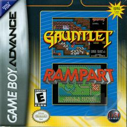 Gauntlet/Rampart GBA Cover Art