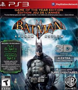 Batman: Arkham Asylum PS3 Cover Art