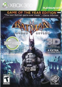 Batman: Arkham Asylum XB360 Cover Art
