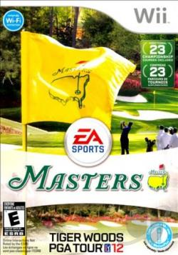 Tiger Woods PGA Tour 12: The Masters WII Cover Art