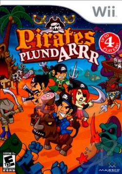 Pirates Plundarrr WII Cover Art