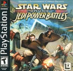 Star Wars Episode I: Jedi Power Battles PS Cover Art