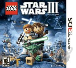 Lego Star Wars 3 Clone Wars 3DS Cover Art