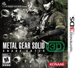 Metal Gear Solid 3D: Snake Eater 3DS Cover Art