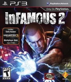 inFamous 2 PS3 Cover Art
