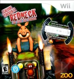 Redneck Farm Animal Racing Tournament With Wheel WII Cover Art