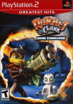 Ratchet & Clank: Going Commando PS2 Cover Art