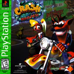 Crash Bandicoot: Warped PS Cover Art