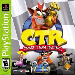 Crash Team Racing PS Cover Art