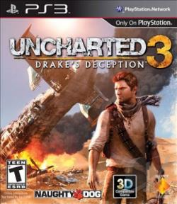 Uncharted 3: Drake's Deception PS3 Cover Art