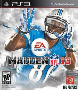 Madden NFL 13 PS3 Cover Art