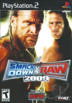 WWE SmackDown vs. Raw 2009 Featuring ECW PS2 Cover Art