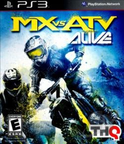 MX vs. ATV Alive PS3 Cover Art
