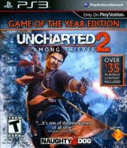 Uncharted 2: Among Thieves PS3 Cover Art
