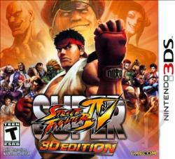 Super Street Fighter IV: 3D Edition 3DS Cover Art
