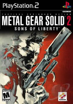 Metal Gear Solid 2: Sons Of Liberty PS2 Cover Art