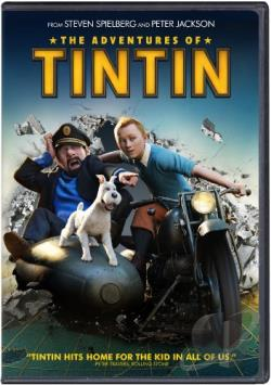Adventures of Tintin DVD Cover Art