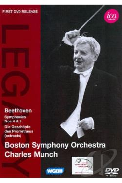 Boston Symphony Orchestra/Charles Munch: Beethoven DVD Cover Art