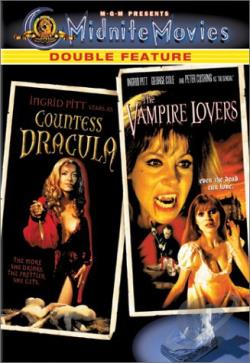 Countess Dracula/The Vampire Lovers - Midnite Movies Double Feature DVD Cover Art