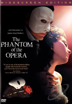 Andrew Lloyd Webber's The Phantom of the Opera DVD Cover Art