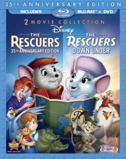 Rescuers: 35th Anniversary Edition/The Rescuers Down Under BRAY Cover Art