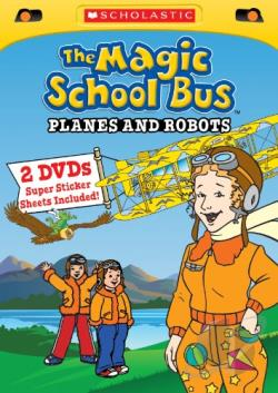 Magic School Bus: Planes and Robots DVD Cover Art