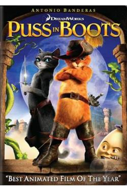 Puss in Boots DVD Cover Art