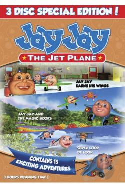 Jay Jay The Jet Plane: Jay Jay Earns His Wings/The Magic Books/Super Loop-De-Loop DVD Cover Art