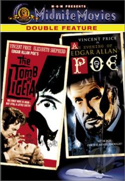 Tomb of Ligeia/An Evening of Edgar Allan Poe - Midnite Movies Double Feature DVD Cover Art