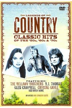 Legends of Country: Classics Hits of the '50s, '60s, & '70s DVD Cover Art