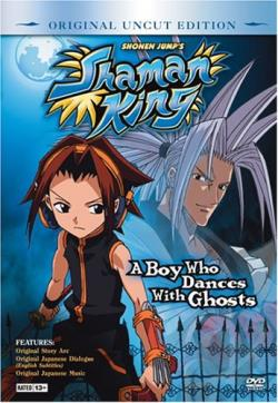 Shaman King - Vol. 1: A Boy Who Dances with Ghosts DVD Cover Art