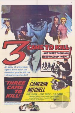 Three Came to Kill DVD Cover Art