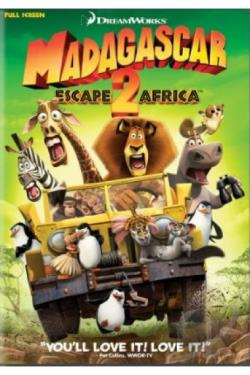 Madagascar: Escape 2 Africa DVD Cover Art