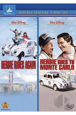 Herbie Rides Again/Herbie Goes To Monte Carlo DVD Cover Art