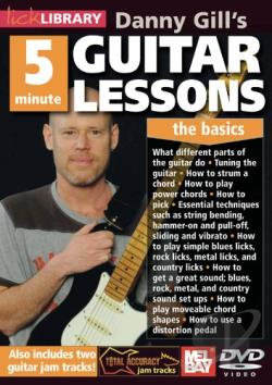 Lick Library: Danny Gill's 5 Minute Guitar Lessons - The Basics DVD Cover Art